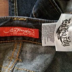 Ed Hardy Jeans - ED HARDY MENS DENIM PANTS 40 X 32 Button Fly